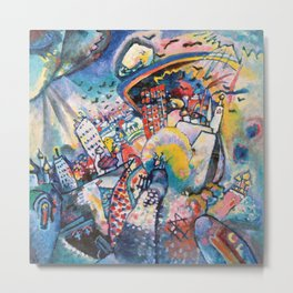 Moscow by Wassily Kandinsky Metal Print