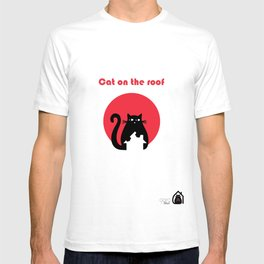 """""""Cat on the roof"""" by Qora and Shaï T-shirt"""