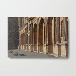 Paris, the Louvre Museum  Metal Print