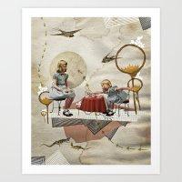 tea Art Prints featuring tea time by Heather Landis