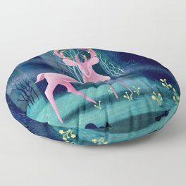 King Of The Enchanted Forest Floor Pillow