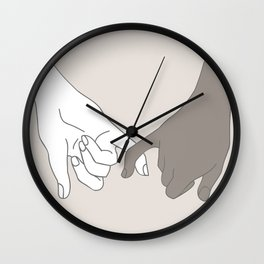 Pinky Promise 4 Wall Clock