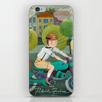 motorcycle iPhone & iPod Skins featuring Motorcycle by Rebekka Ivacson