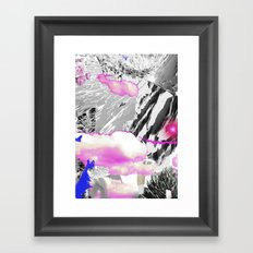 Magic mountains Framed Art Print