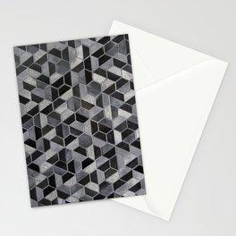 Dark Honeycomb Stationery Cards