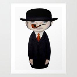 omaggio a Magritte Art Print