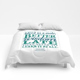 Sherlock Holmes novel quote – better late than never Comforters