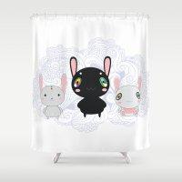 rabbits Shower Curtains featuring Rabbits by Ilya Konyukhov