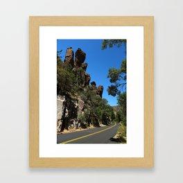 Scenic Bonita Canyon Road Framed Art Print