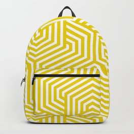 Safety yellow - yellow - Minimal Vector Seamless Pattern Backpack