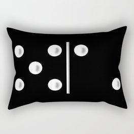 Black Domino / Domino Negro Rectangular Pillow