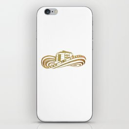 Colombian Sombrero Vueltiao in Gold Leaf Style iPhone Skin