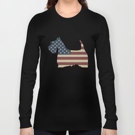 Proud American Scottie american t-shirts Long Sleeve T-shirt