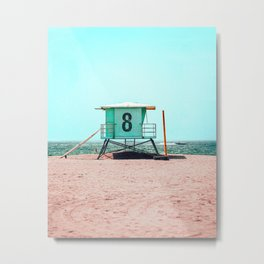 California Lifeguard Tower Metal Print
