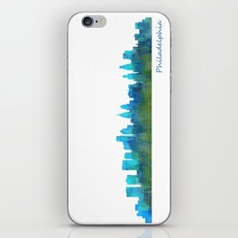 Philadelphia City Skyline Hq V1a iPhone Skin