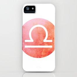 Watercolor Libra Sign iPhone Case