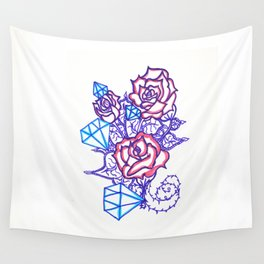 51. Women's love - Dimond and Rose  Wall Tapestry