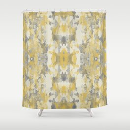 Sycamore Kaleidoscope - Golden Yellow Shower Curtain