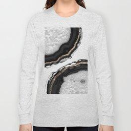 Agate Glitter Glam #2 #gem #decor #art #society6 Long Sleeve T-shirt