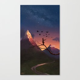 Enjoying the View Canvas Print