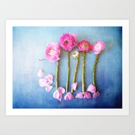 Wild Flowers and Spring Asparagus Art Print