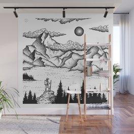 The climber Wall Mural