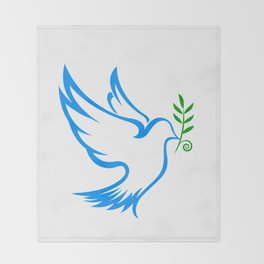 dove symbol draw Throw Blanket