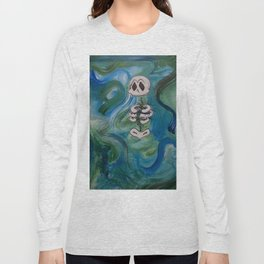 Blue Skelly Dude Long Sleeve T-shirt