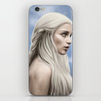 daenerys targaryen iPhone & iPod Skins featuring Khaleesi (Blue Sky) by Jason Cumbers