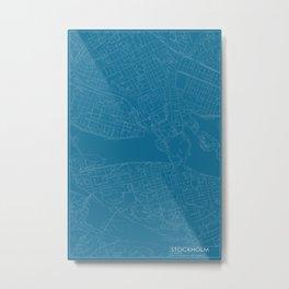 Stockholm, Sverige, city map, Blueprint design Metal Print