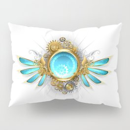 Banner with Glass Mechanical Wings ( Steampunk Wings ) Pillow Sham