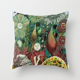 The case of The Wrong Feed On The Ol' Snail Trail... Throw Pillow