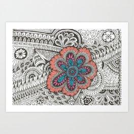 Flower-tangle Art Print