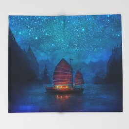 Our Secret Harbor Throw Blanket