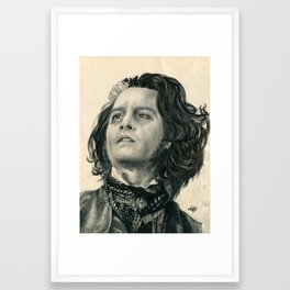 Sweeney Todd ~ Johnny Depp Traditional Portrait Print Framed Art Print