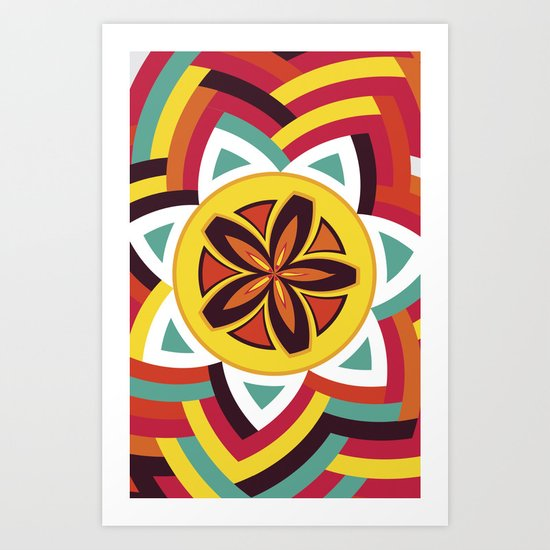 Mandala Love Pattern Art Print