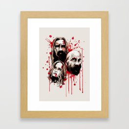 Cleansing Of The Wicked Framed Art Print