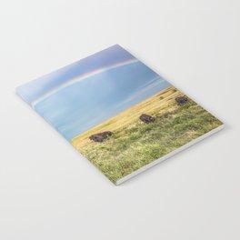 Rainbows and Bison - Buffalo on the Tallgrass Prairies of Oklahoma Notebook