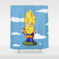 gnome Shower Curtains featuring Gnome Sayan by Nate Galbraith