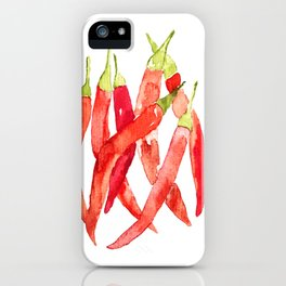 Watercolor Chilies iPhone Case