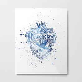 Ravenclaw House silhouette splatter Metal Print
