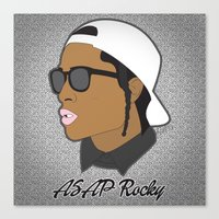asap rocky Canvas Prints featuring ASAP Rocky Illustration by Dailygray