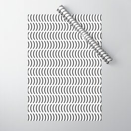Smiley Small B&W Wrapping Paper