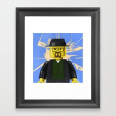 LEGO - Walter White Minifigure Framed Art Print