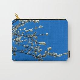 White blossom, blue sky Carry-All Pouch