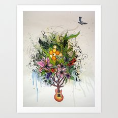 Music and Nature Art Print