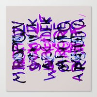 letters Canvas Prints featuring letters by Artemio Studio