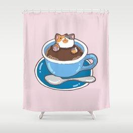 Cat Coffee Shower Curtain