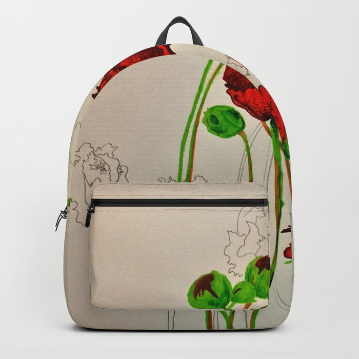 Very Red Flowers Backpack