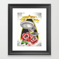 Stay True Star Trek Framed Art Print